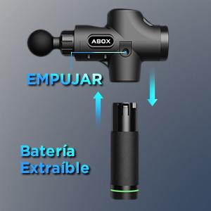batería pistola masaje ABOX