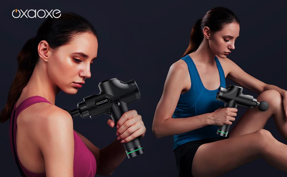 Pistola de masaje oxaoxe